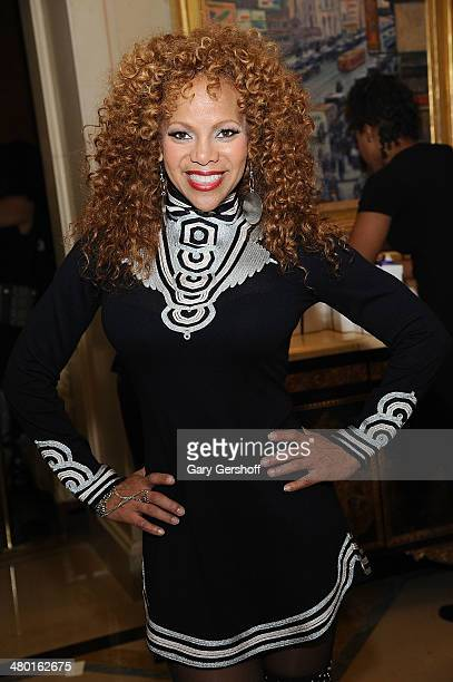 Sports commentator Donna Richardson Joyner attends Aretha Franklin's 72nd Birthday Celebration at The RitzCarlton Hotel on March 22 2014 in New York...
