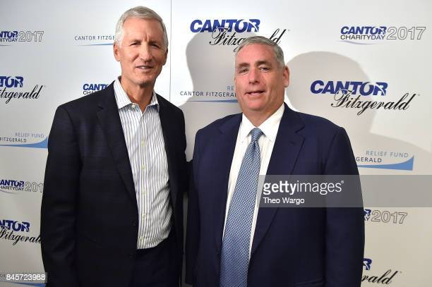 Sports commentator Mike Breen and CEO of Cantor Fitzgerald Shawn Matthews participate in Annual Charity Day hosted by Cantor Fitzgerald BGC and GFI...