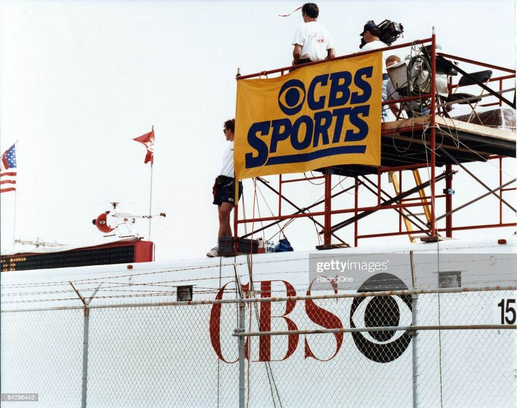 CBS Sports at the 1979 Daytona 500 : News Photo