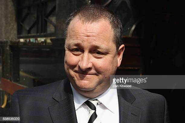 Sports Direct International founder Mike Ashley leaves the Red Lion pub in Westminster to attend a Parliamentary select committee hearing at...