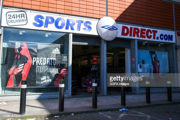 Sports Direct logo seen at one of their branches
