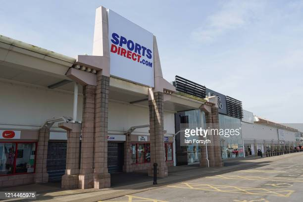 Sports Direct store at Teesside Park remains closed as the UK adjusts to life under the Coronavirus pandemic on March 24 2020 in Middlesbrough United...