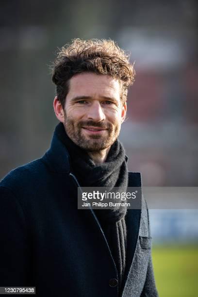 Sports director Arne Friedrich of Hertha BSC during the training session at Schenckendorffplatz on January 26, 2021 in Berlin, Germany.