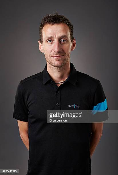 Sports Director Kurt Asle Arvesen poses during a Team SKY portrait session on October 21 in Weymouth England