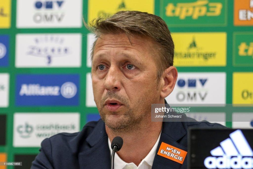 AUT: SK Rapid Wien Press Conference