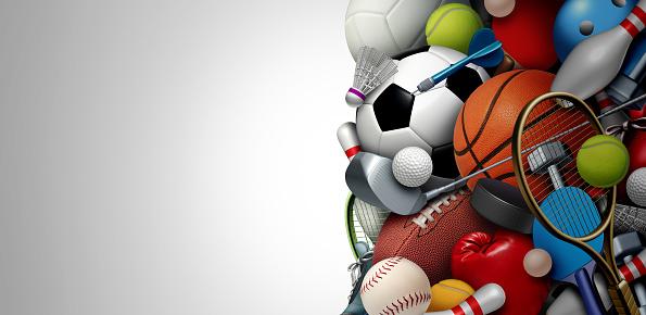 Sports Equipment Background 1174924872
