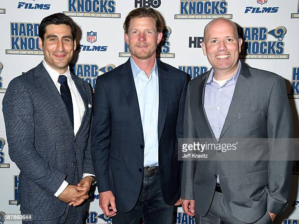HBO Sports Executive VP Peter Nelson General Manager of the Los Angeles Rams Les Snead and Senior Coordinating Producer at NFL Films Patrick Kelleher...