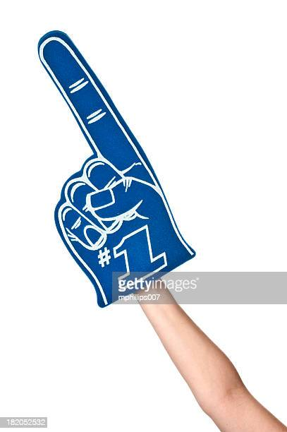 sports fan - foam finger stock photos and pictures