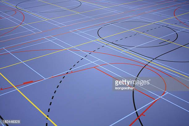 sports floor - flooring stock photos and pictures