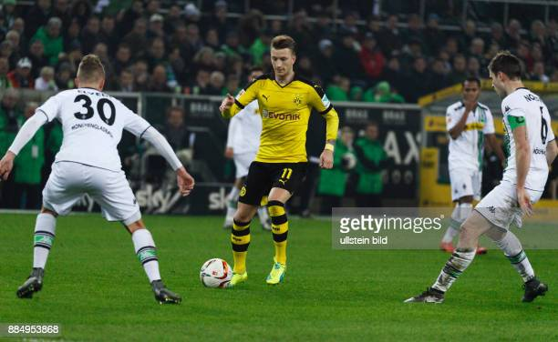 sports football Bundesliga 2015/2016 Borussia Moenchengladbach versus Borussia Dortmund 13 Stadium Borussia Park scene of the match Marco Reus in...