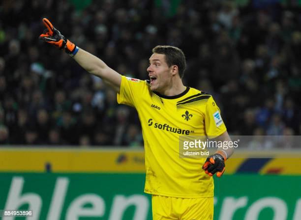 sports football Bundesliga 2015/2016 Borussia Moenchengladbach versus SV Darmstadt 98 32 Stadium Borussia Park scene of the match keeper Christian...