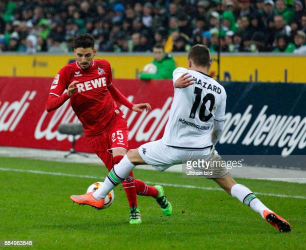 sports football Bundesliga 2015/2016 Borussia Moenchengladbach versus 1 FC Koeln 10 Stadium Borussia Park scene of the match Filip Mladenovic left...