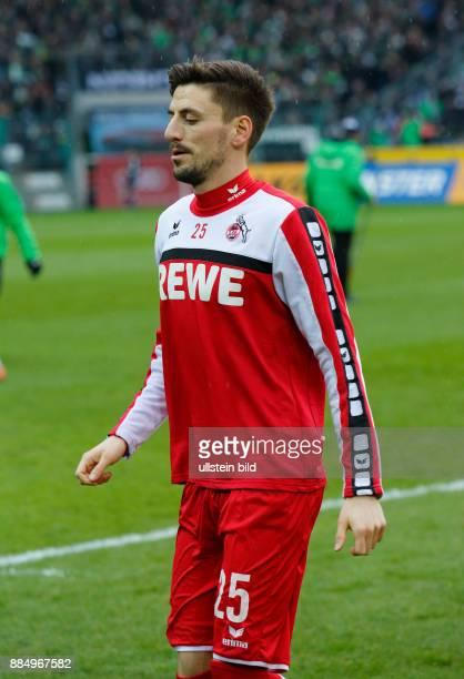 sports football Bundesliga 2015/2016 Borussia Moenchengladbach versus 1 FC Koeln 10 Stadium Borussia Park warmingup Filip Mladenovic