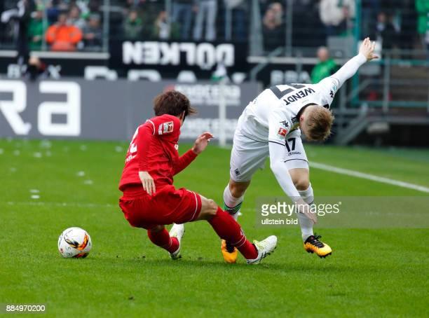 sports football Bundesliga 2015/2016 Borussia Moenchengladbach versus 1 FC Koeln 10 Stadium Borussia Park scene of the match Yuya Osako left and...