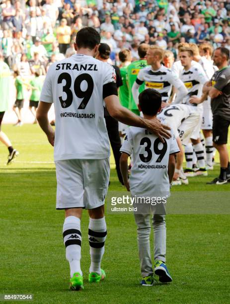 sports football Bundesliga 2015/2016 Borussia Moenchengladbach versus Bayer 04 Leverkusen 21 Stadium Borussia Park farewell to the players leaving...