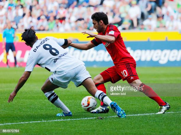 sports football Bundesliga 2015/2016 Borussia Moenchengladbach versus Bayer 04 Leverkusen 21 Stadium Borussia Park scene of the match Hakan...