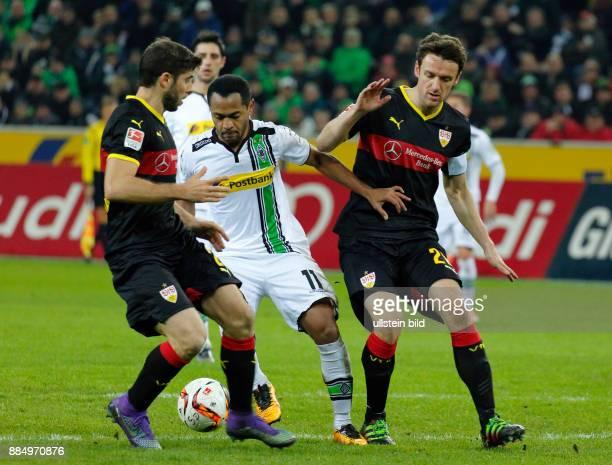 sports football Bundesliga 2015/2016 Borussia Moenchengladbach versus VFB Stuttgart 40 Stadium Borussia Park scene of the match fltr Emiliano Insua...