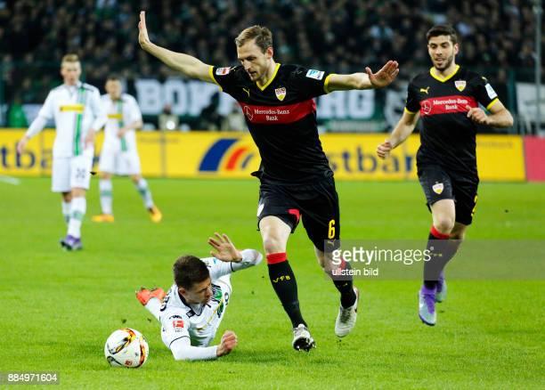 sports football Bundesliga 2015/2016 Borussia Moenchengladbach versus VFB Stuttgart 40 Stadium Borussia Park scene of the match fltr Thorgan Hazard...