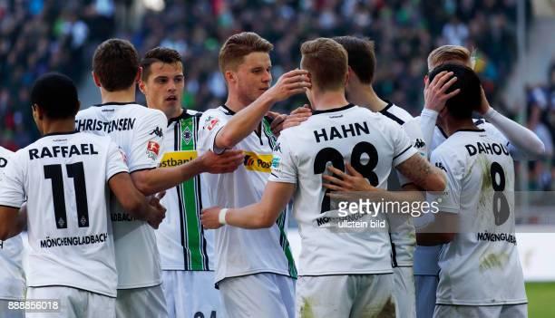 sports football Bundesliga 2015/2016 Borussia Moenchengladbach versus TSG 1899 Hoffenheim 31 Stadium Borussia Park rejoicing at the 31 fltr Raffael...