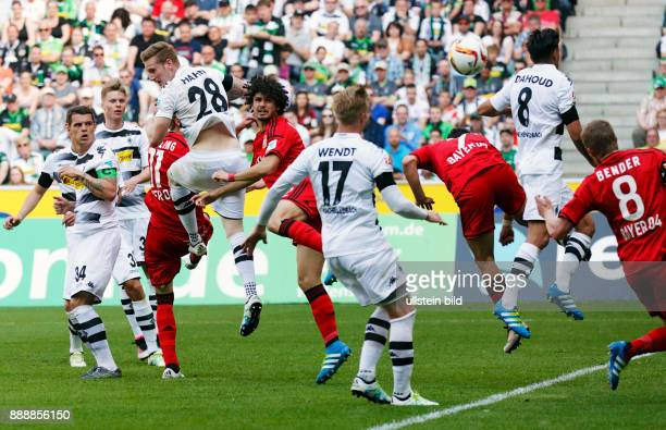 sports football Bundesliga 2015/2016 Borussia Moenchengladbach versus Bayer 04 Leverkusen 21 Stadium Borussia Park scene of the match fltr Granit...
