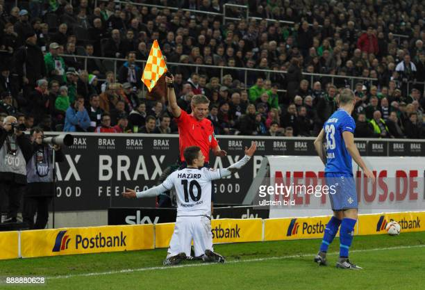 sports football Bundesliga 2015/2016 Borussia Moenchengladbach versus SV Darmstadt 98 32 Stadium Borussia Park PHOTO SPREAD Yellow Card by referee...