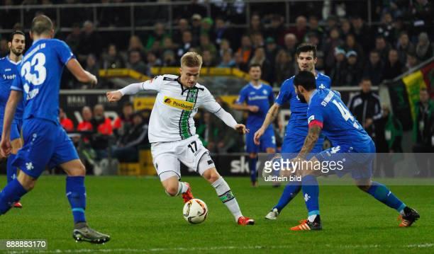 sports football Bundesliga 2015/2016 Borussia Moenchengladbach versus SV Darmstadt 98 32 Stadium Borussia Park scene of the match fltr Mario Vrancic...
