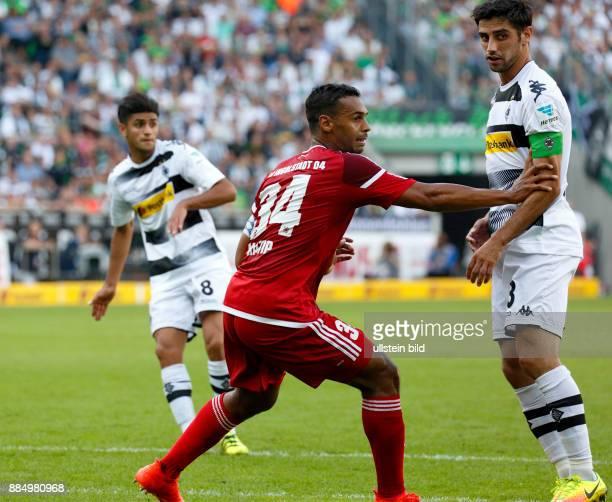 sports football Bundesliga 2016/2017 Borussia Moenchengladbach versus FC Ingolstadt 04 20 Stadium Borussia Park scene of the match fltr Mahmoud...