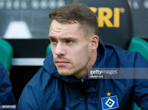 sports football Bundesliga 2016/2017 Borussia Moenchengladbach versus Hamburger SV 00 Stadium Borussia Park players bench keeper Christian Mathenia