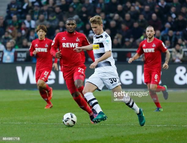 sports football Bundesliga 2016/2017 Borussia Moenchengladbach versus 1 FC Koeln 12 Stadium Borussia Park scene of the match ahead fltr Anthony...