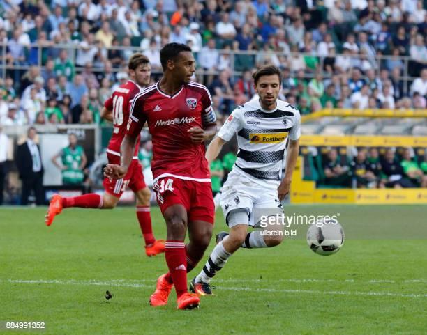 sports football Bundesliga 2016/2017 Borussia Moenchengladbach versus FC Ingolstadt 04 20 Stadium Borussia Park scene of the match fltr Pascal Gross...