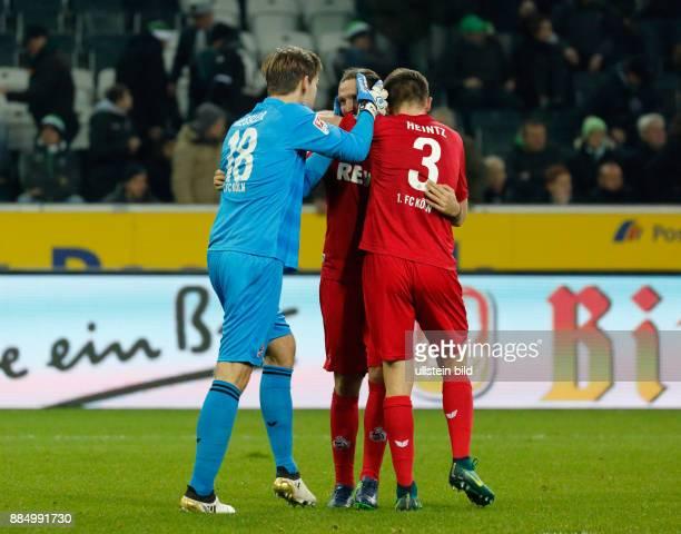 sports football Bundesliga 2016/2017 Borussia Moenchengladbach versus 1 FC Koeln 12 Stadium Borussia Park Koeln players rejoicing at the win left...