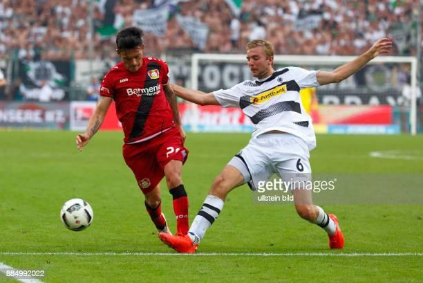 sports football Bundesliga 2016/2017 Borussia Moenchengladbach versus Bayer 04 Leverkusen 21 Stadium Borussia Park scene of the match Charles...