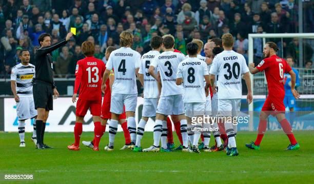 sports football Bundesliga 2016/2017 Borussia Moenchengladbach versus 1 FC Koeln 12 Stadium Borussia Park mass confrontation after foul play Koeln...