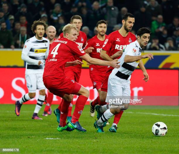 sports football Bundesliga 2016/2017 Borussia Moenchengladbach versus 1 FC Koeln 12 Stadium Borussia Park scene of the match fltr Fabian Johnson...