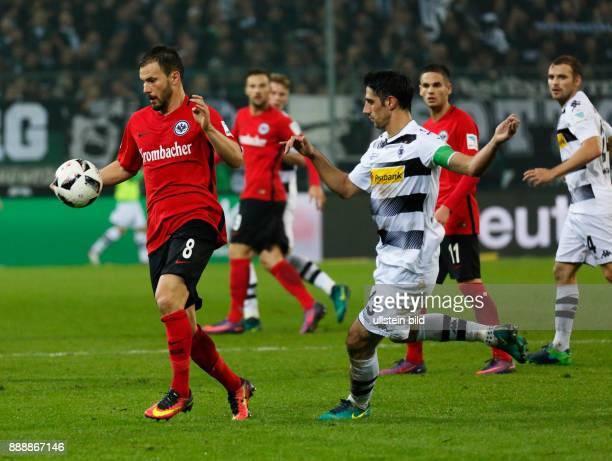 sports football Bundesliga 2016/2017 Borussia Moenchengladbach versus Eintracht Frankfurt 00 Stadium Borussia Park scene of the match ahead fltr...