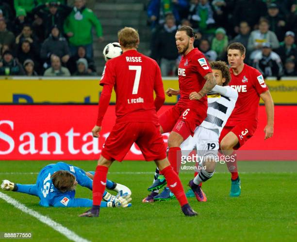 sports football Bundesliga 2016/2017 Borussia Moenchengladbach versus 1 FC Koeln 12 Stadium Borussia Park scene of the match great scoring chance to...
