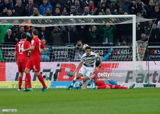 sports football Bundesliga 2016/2017 Borussia Moenchengladbach versus 1 FC Koeln 12 Stadium Borussia Park scene of the match 10 goal to Gladbach fltr...