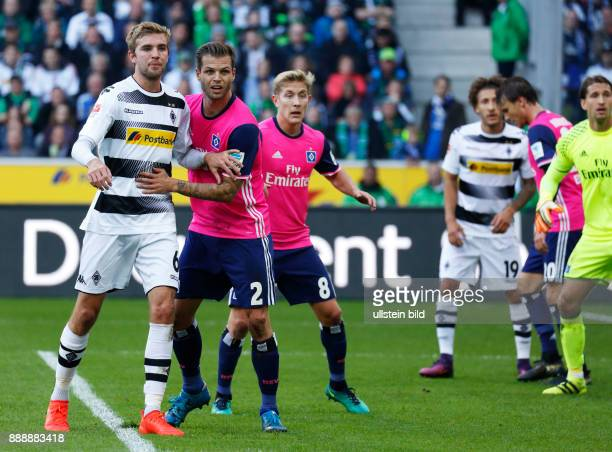 sports football Bundesliga 2016/2017 Borussia Moenchengladbach versus Hamburger SV 00 Stadium Borussia Park scene of the match fltr Christoph Kramer...