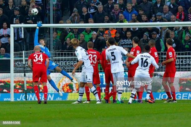 sports football Bundesliga 2016/2017 Borussia Moenchengladbach versus 1 FC Koeln 12 Stadium Borussia Park scene of the match free kick by Ibrahima...