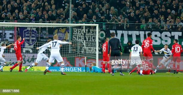 sports football Bundesliga 2016/2017 Borussia Moenchengladbach vs 1 FSV Mainz 05 10 Stadium Borussia Park golden goal to Gladbach fltr Tony Jantschke...