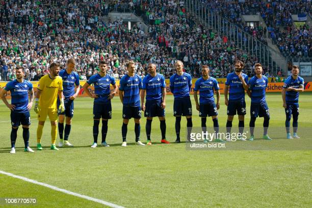 sports football Bundesliga 2016/2017 Borussia Moenchengladbach vs SV Darmstadt 98 22 Stadium Borussia Park team Darmstadt fltr team captain Jerome...