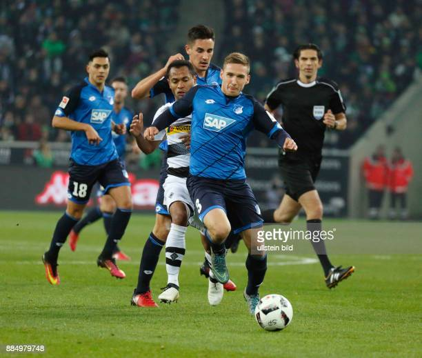 sports football Bundesliga 2016/2017 Borussia Moenchengladbach vs TSG 1899 Hoffenheim 11 Stadium Borussia Park scene of the match fltr Nadiem Amiri...