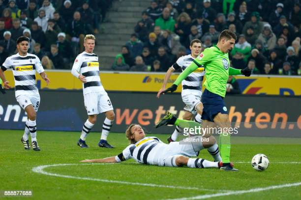 sports football Bundesliga 2016/2017 Borussia Moenchengladbach vs VfL Wolfsburg 12 Stadium Borussia Park scene of the match 12 winning goal by goal...