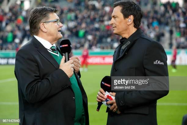 sports football DFB Cup 2016/2017 Round 5 semifinal Borussia Moenchengladbach vs Eintracht Frankfurt 78 on penalties Stadium Borussia Park television...