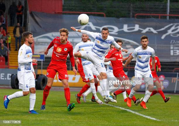 sports football Lower Rhine Cup 2016/2017 semifinal Rot Weiss Oberhausen vs MSV Duisburg 03 Stadium Niederrhein in Oberhausen scene of the match fltr...