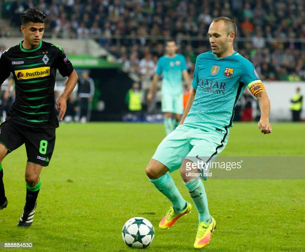 sports football UEFA Champions League 2016/2017 Group Stage Group C Matchday 2 Borussia Moenchengladbach versus FC Barcelona 12 Stadium Borussia Park...