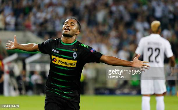 sports football UEFA Champions League 2016/2017 playoffs 2nd leg Borussia Moenchengladbach versus Young Boys of Bern 61 Stadium Borussia Park triple...