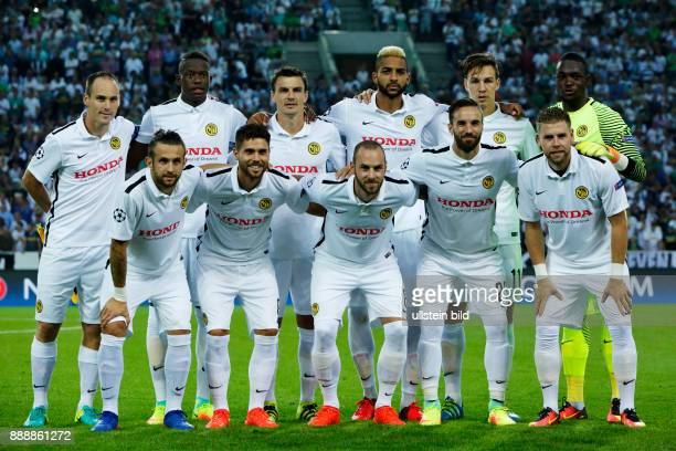 sports football UEFA Champions League 2016/2017 playoffs 2nd leg Borussia Moenchengladbach versus Young Boys of Bern 61 Stadium Borussia Park team...