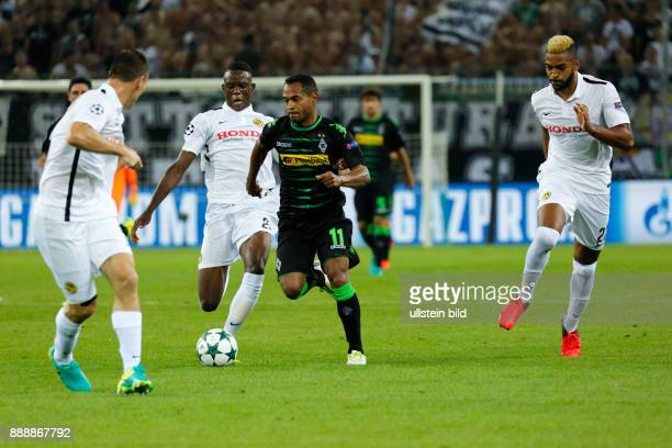 sports football UEFA Champions League 2016/2017 playoffs 2nd leg Borussia Moenchengladbach versus Young Boys of Bern 61 Stadium Borussia Park scene...