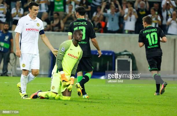 sports football UEFA Champions League 2016/2017 playoffs 2nd leg Borussia Moenchengladbach versus Young Boys of Bern 61 Stadium Borussia Park...